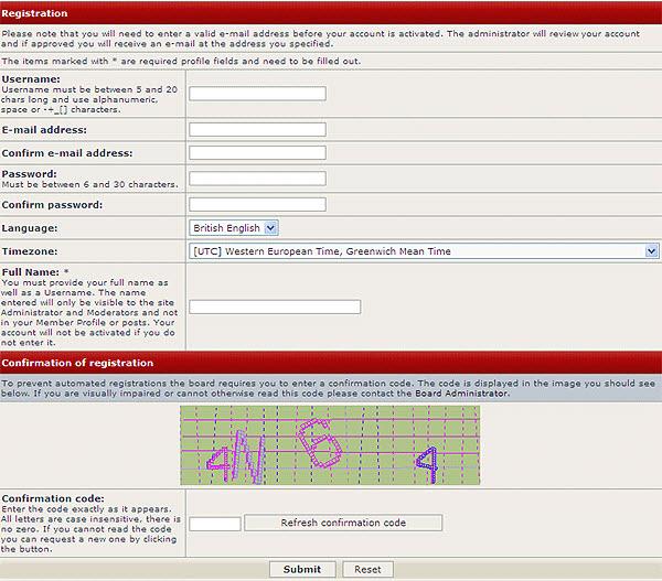 FOPS Forum Help Registering